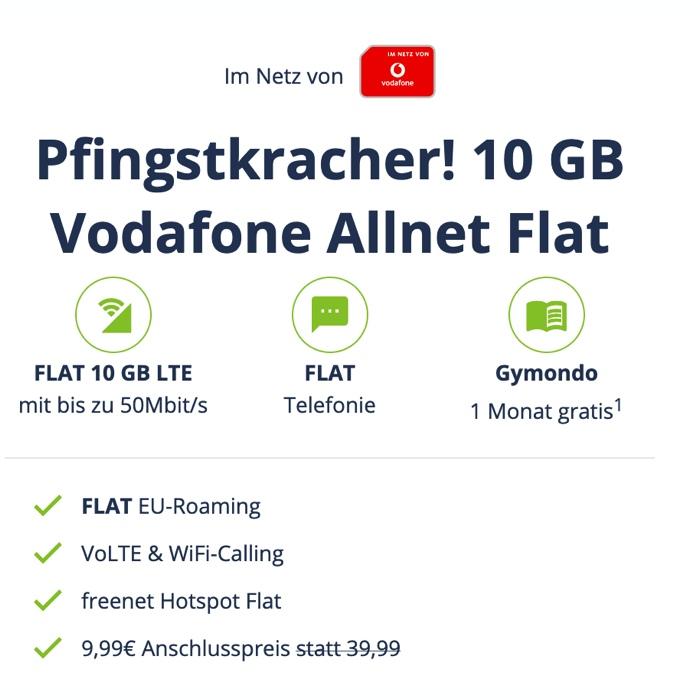 10 GB Vodafone Allnet Flat