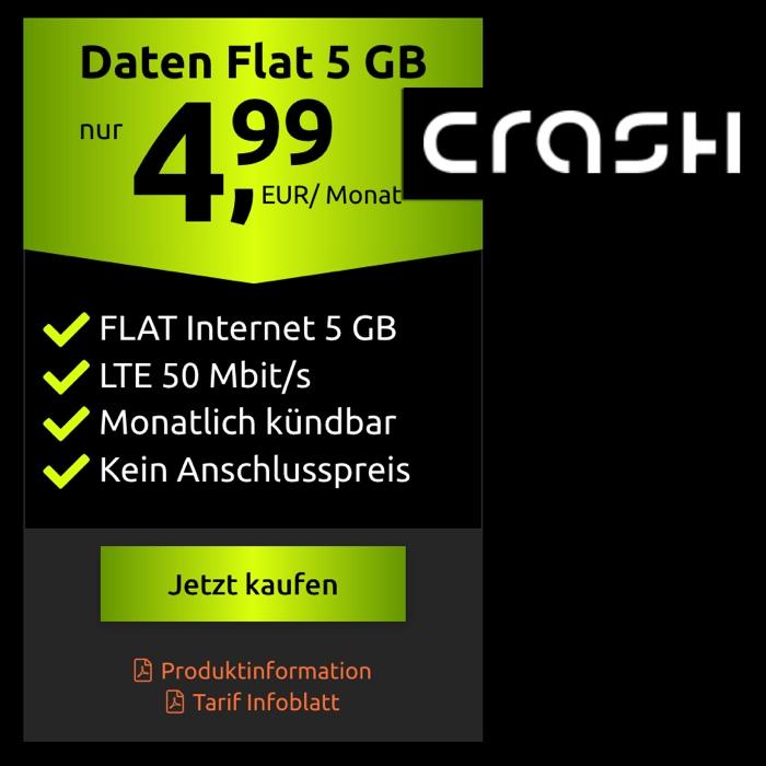 Crash Tarif Datentarif 5 Euro